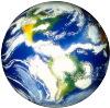 Globe White Background